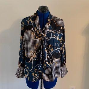 Ann Taylor blouse long sleeve silky blouse size MP